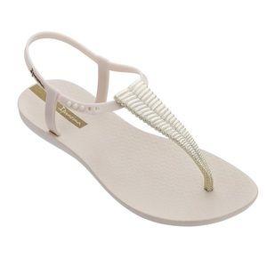Ipanema Ribba beige gold thong sandals